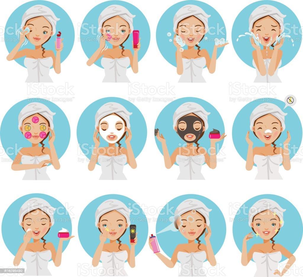 Royalty Free Facial Mask Beauty Product Clip Art Vector