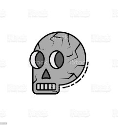 skull skeleton anatomy bone head icon element of history color icon [ 1024 x 1024 Pixel ]