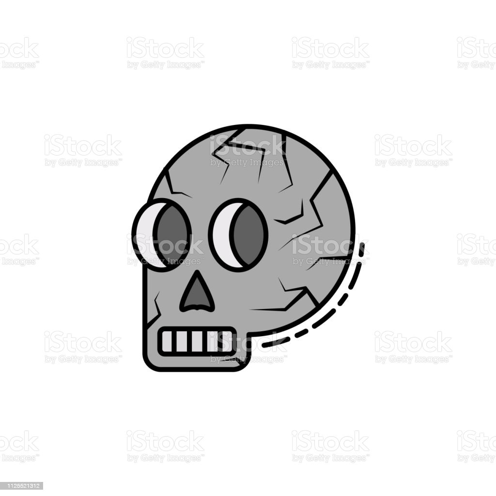 hight resolution of skull skeleton anatomy bone head icon element of history color icon