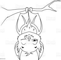 Schlafen Fledermaus Malvorlagen Stock Vektor Art und mehr ...