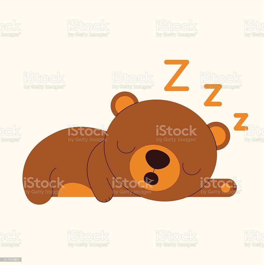 best sleeping bear illustrations