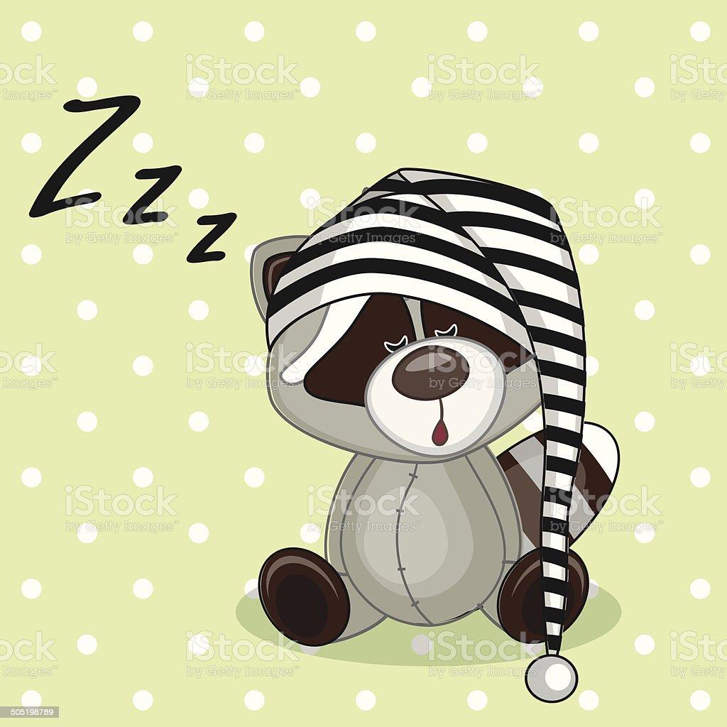 hight resolution of sleeping raccoon royalty free sleeping raccoon stock vector art amp more images of animal