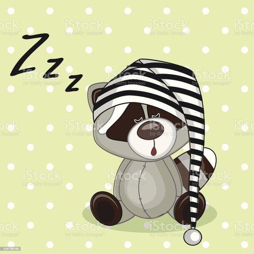 small resolution of sleeping raccoon royalty free sleeping raccoon stock vector art amp more images of animal