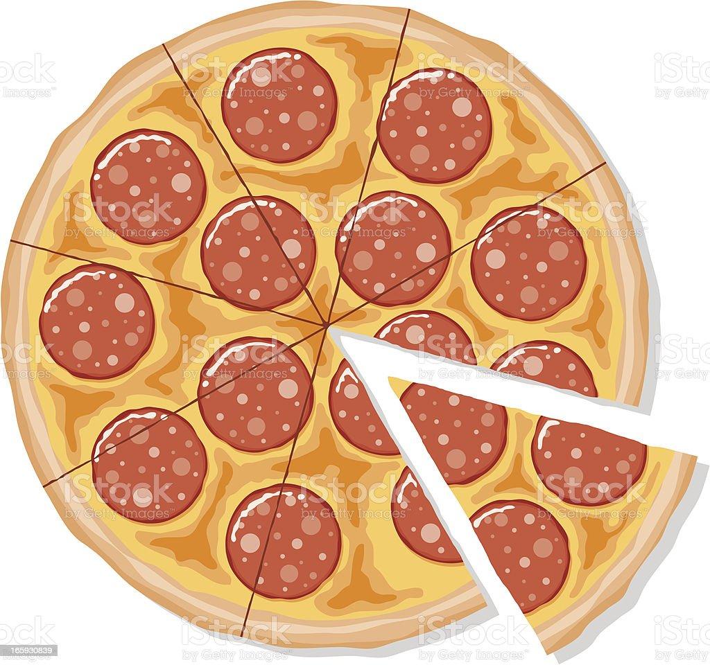 royalty free pizza clip art vector