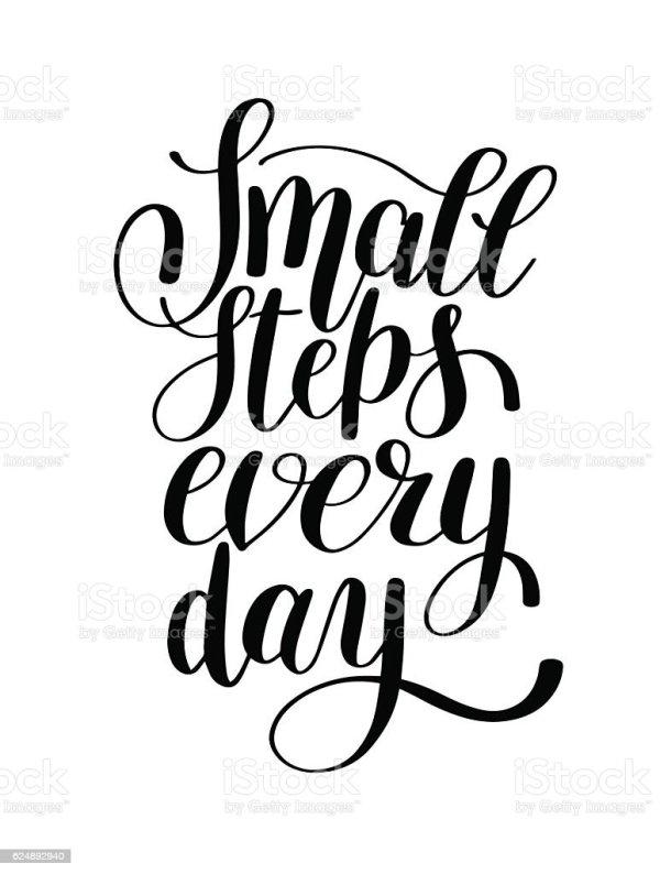 small steps day handwritten