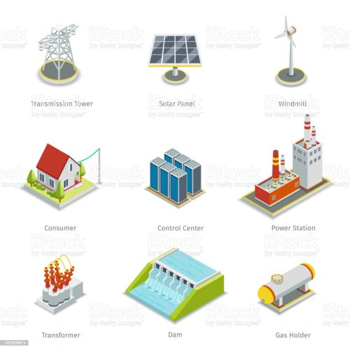 small resolution of smart grid elements power items vector set royalty free smart grid elements power items