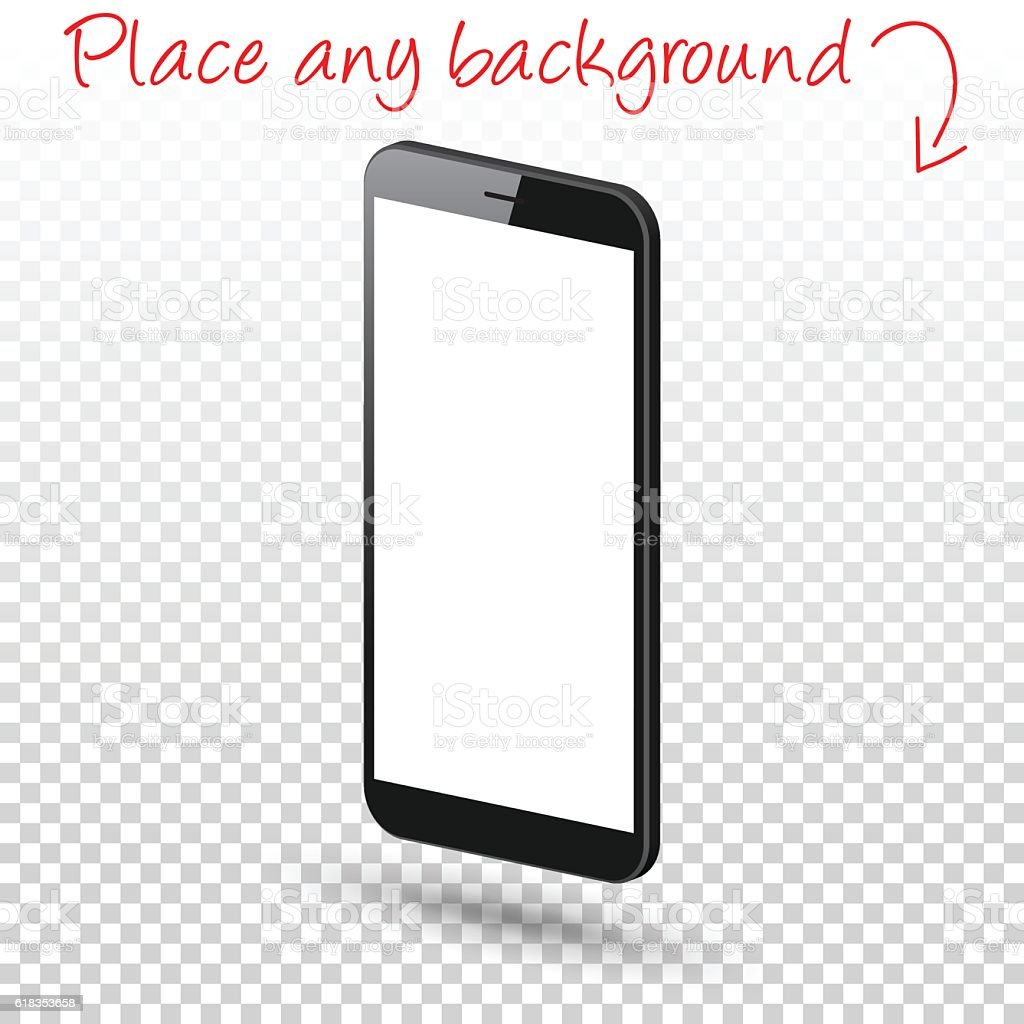 Smartphone Isolated On Blank Background Mobile Phone
