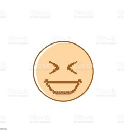 smiling cartoon face laughing positive people emotion icon illustration  [ 1024 x 1024 Pixel ]