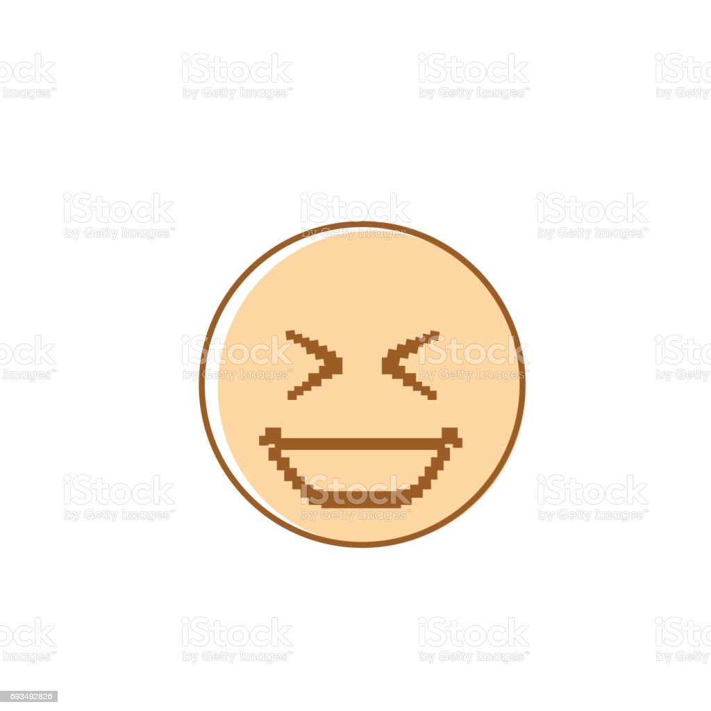 hight resolution of smiling cartoon face laughing positive people emotion icon illustration