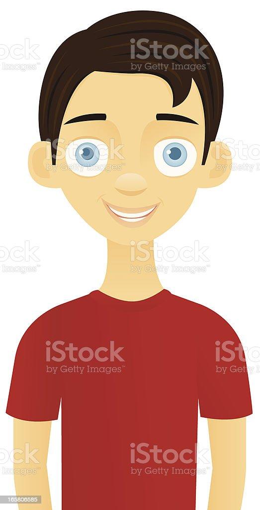 brown hair blue eyes boy clip art