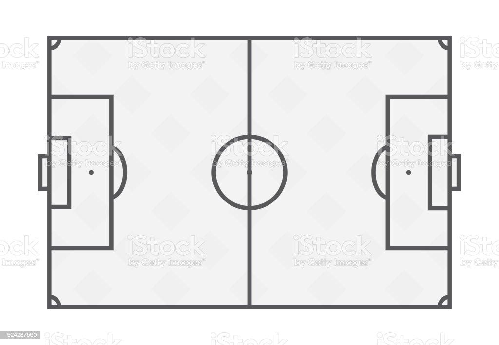 Ilustração de Linhas De Campo De Futebol No Fundo Branco e