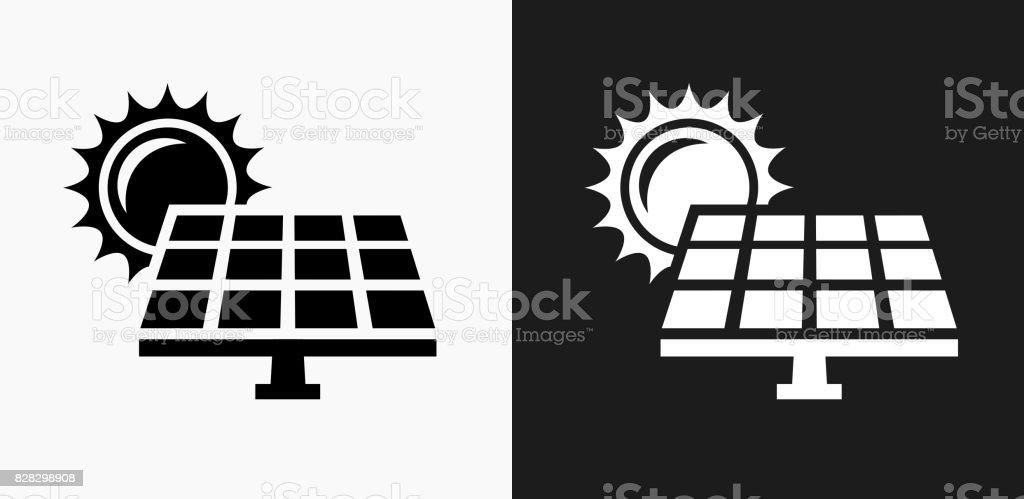 icone de panneau solaire sur fond de vector noir et blanc vecteurs libres de droits et plus d images vectorielles de blanc istock