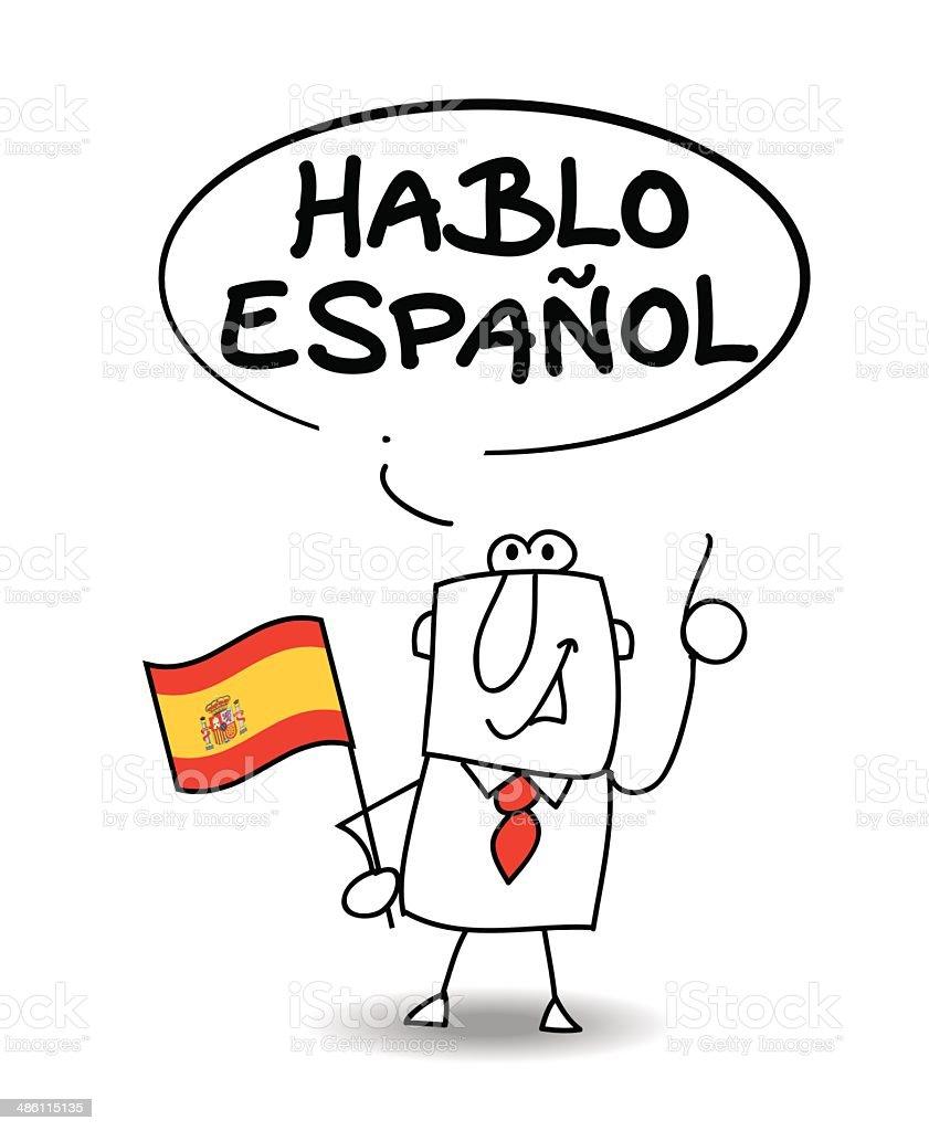I Speak Spanish Stock Vector Art & More Images of Adult