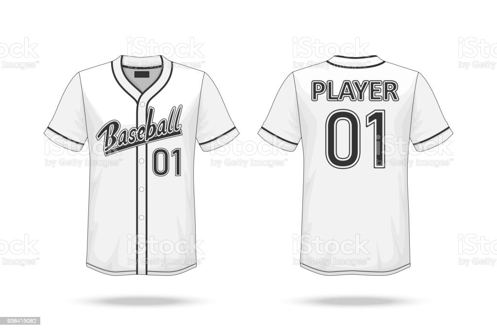 Specification Baseball T Shirt Mockup Isolated On White