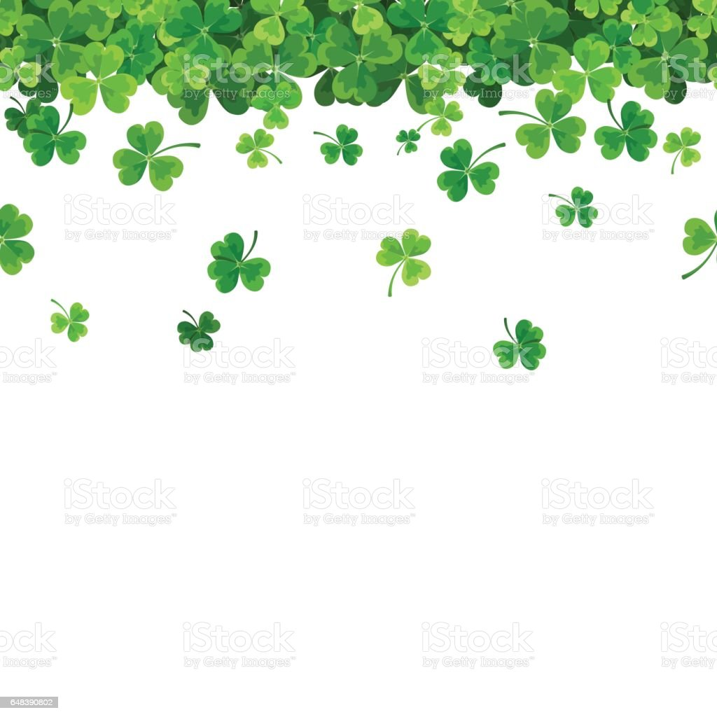 Wallpaper Leaves Falling Clover Illustrations Royalty Free Vector Graphics Amp Clip