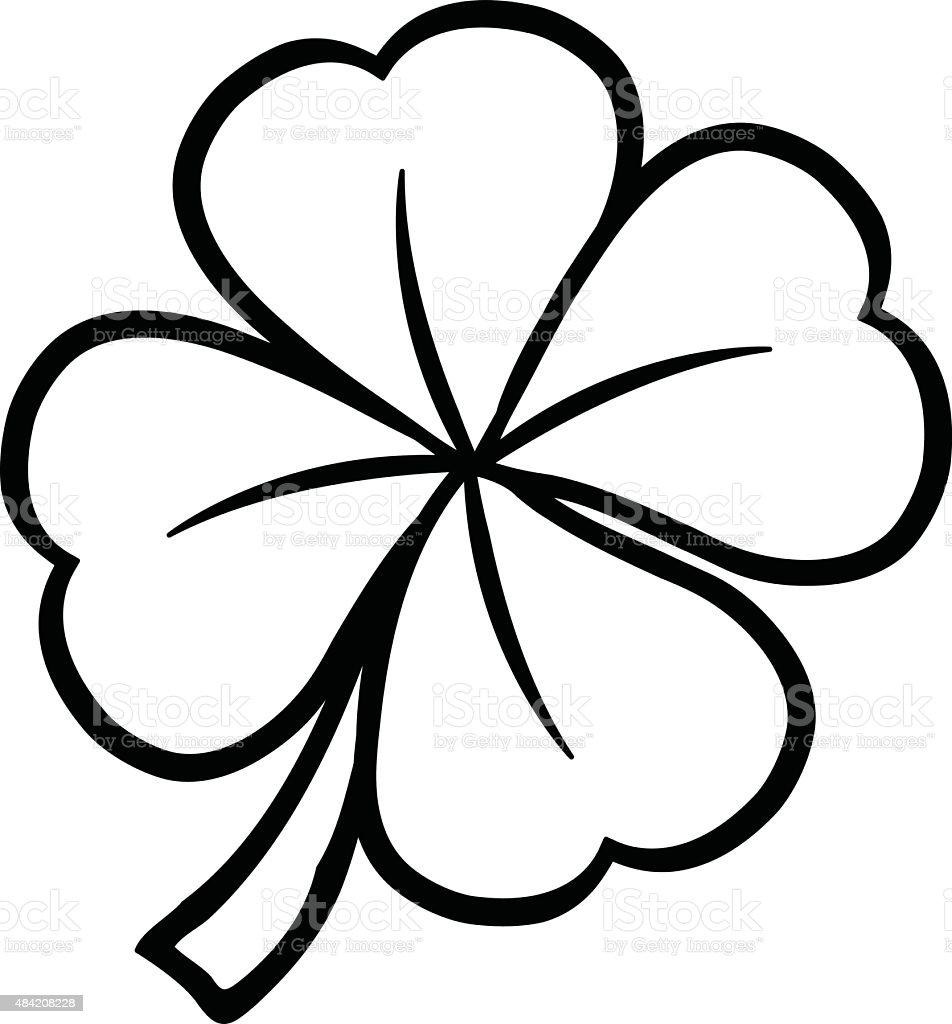 St Patricks Day Shamrock Kleeblatt Stock Vektor Art und