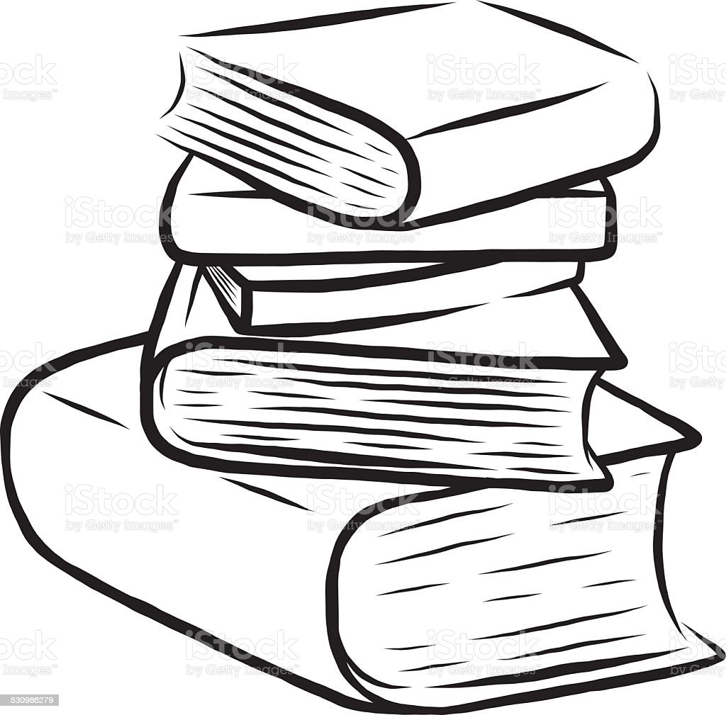 Stack Of Five Books Stock Vector Art & More Images of Art