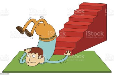 stairs cartoon stair accident falling down fall escalier clip scala incidente della libre staircase illustrations crash vector droits woman cartoons