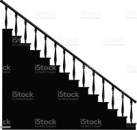 Royalty Free Stair Bannisters Clip Art, Vector Images ...