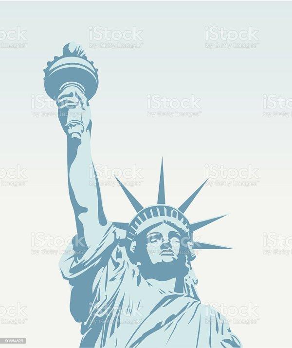 Statue Of Liberty Vector stock vector art 90664529 iStock