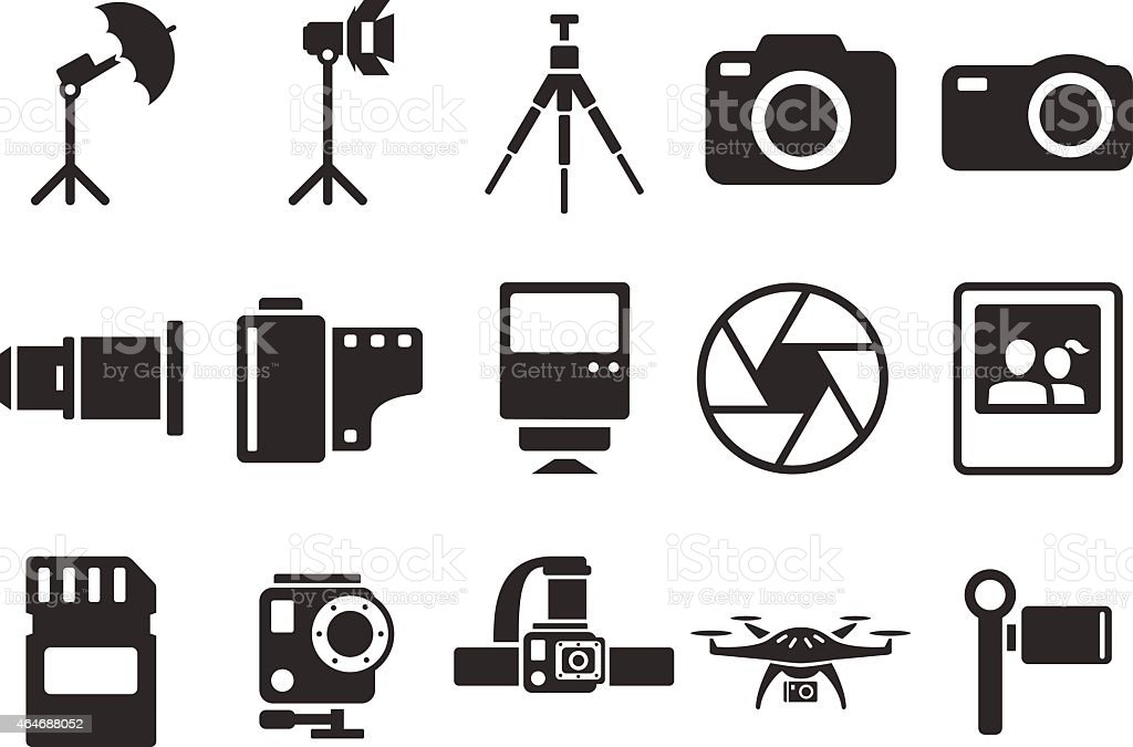 Stock Vector Illustration Camera Icons Illustration Stock