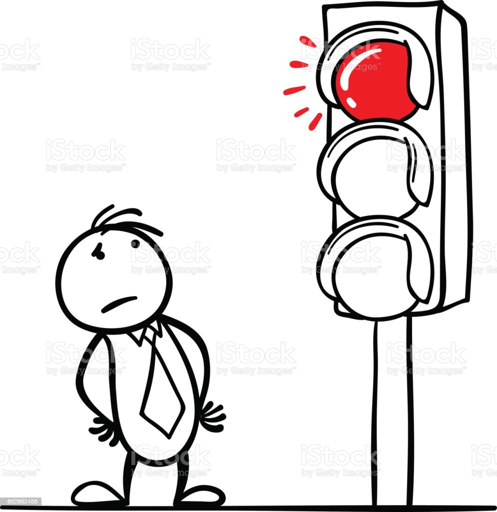 Stop In Front Of The Red Light Stock Vector Art & More