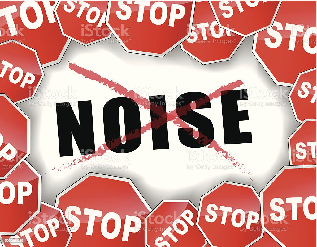 Stop Noise Stock Illustration - Download Image Now - iStock