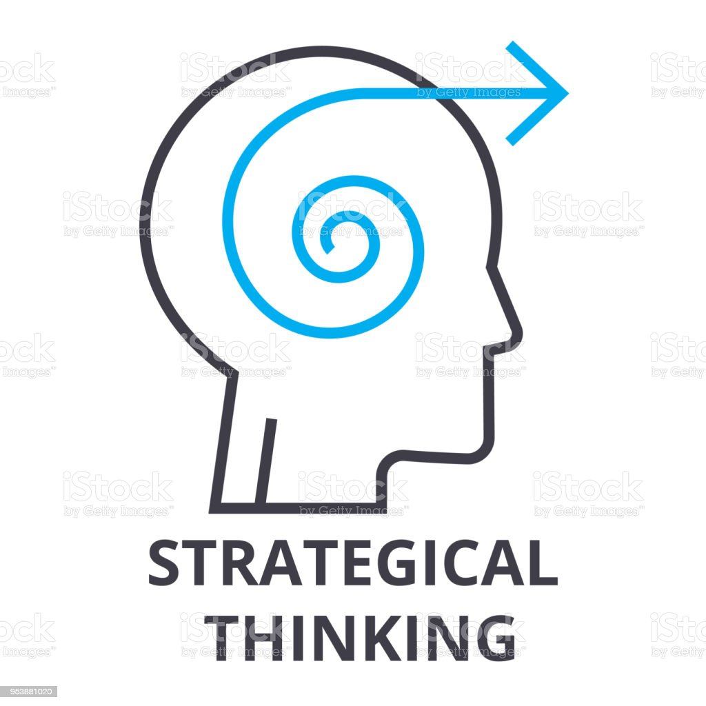 Strategical Thinking Thin Line Icon Sign Symbol