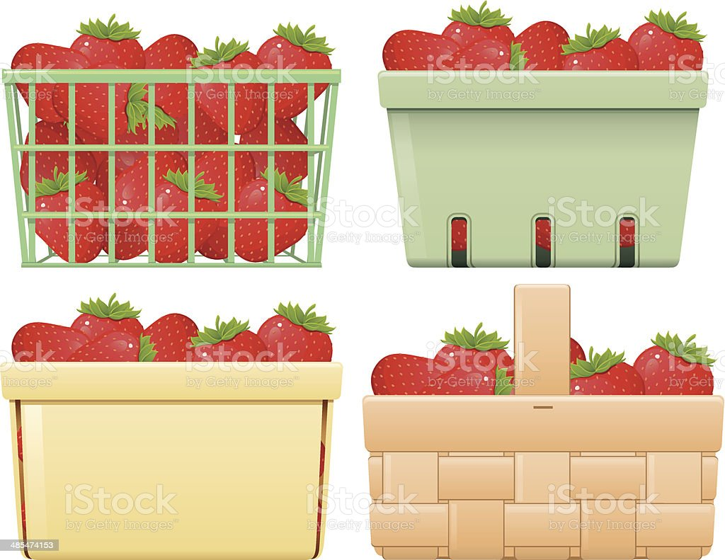 royalty free berry basket clip