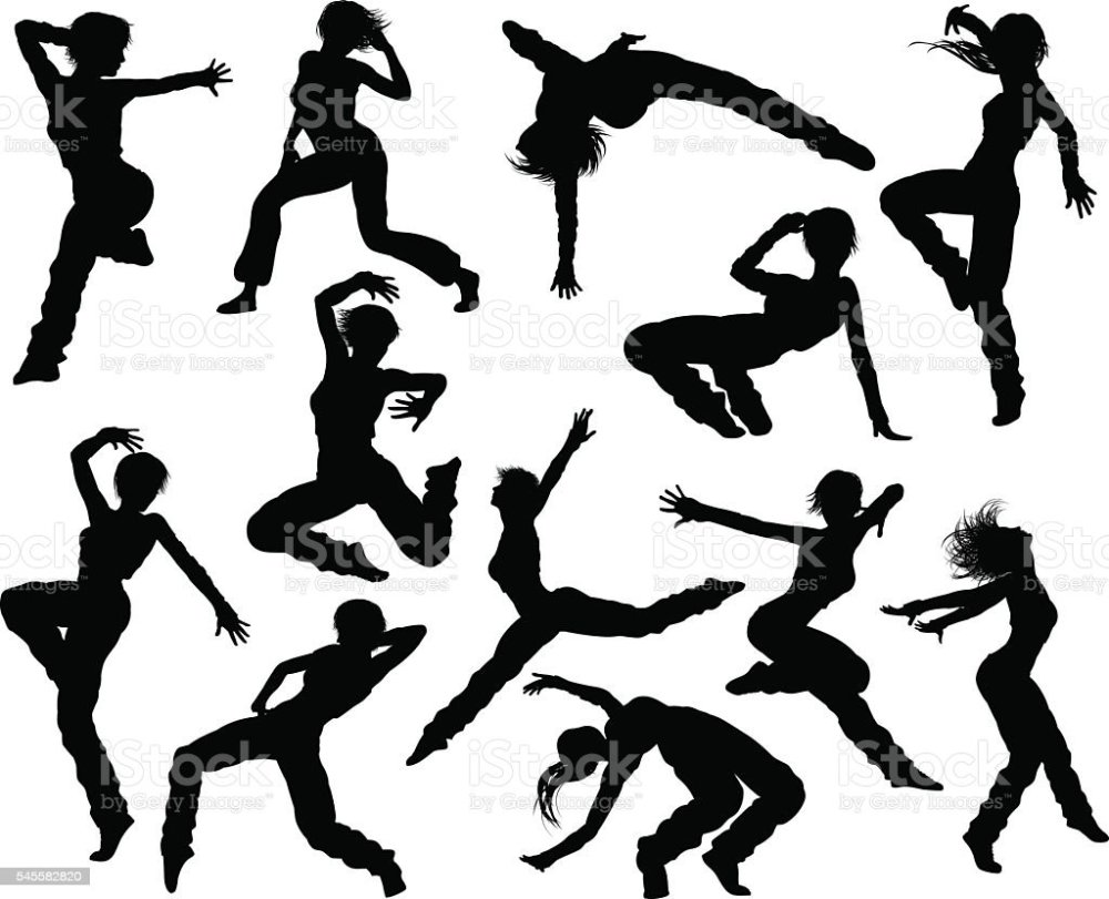 medium resolution of street dance dancer silhouettes stock vector art more ballet dance clip art dance team clip art