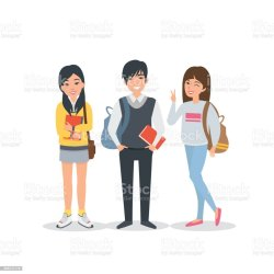 vector student students college korean clip illustration illustrations chinese asian vectors graphics similar