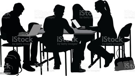 friends college vector students studying clip silhouettes illustrations illustration istock istockphoto