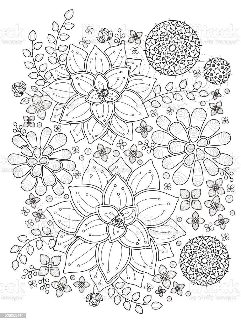 Succulent Plant Coloring Page Stock Vector Art & More