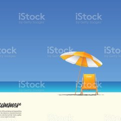 Beach Chair And Umbrella Clipart Blames High Cushion Royalty Free Clip Art Vector Images Illustrations Summer Landscape With Orange On Blue Gradient Sky Background