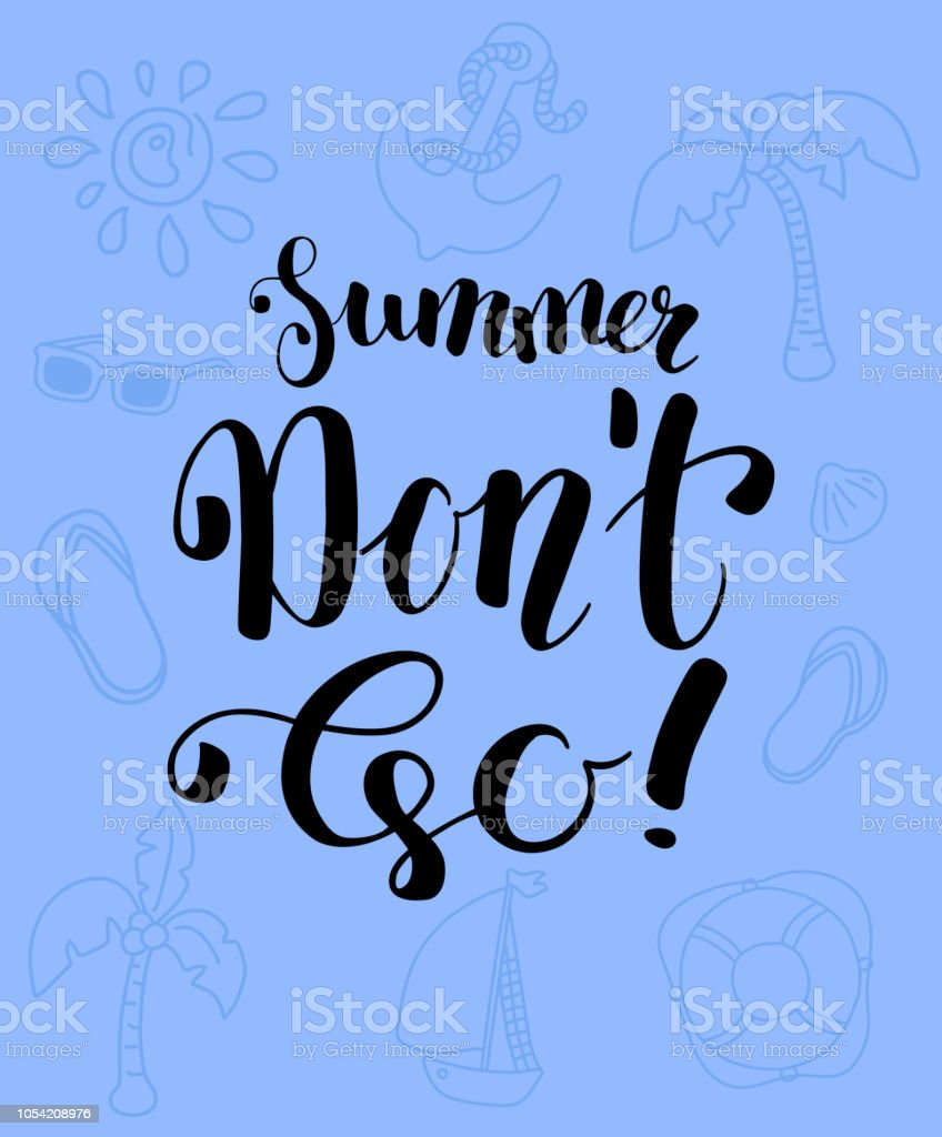 hight resolution of black ink lettering and vacation clipart summer