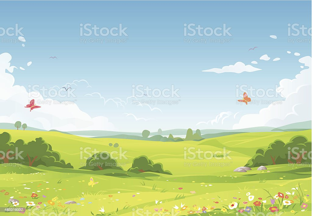 meadow illustrations royalty-free
