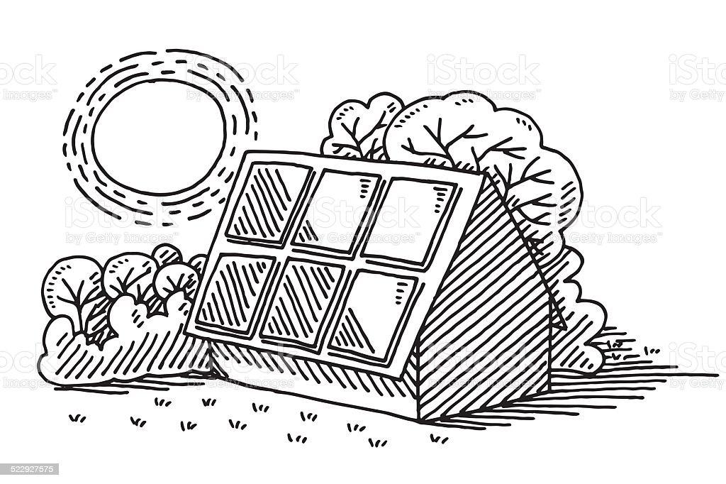 Ilustración de Energía Solar Panel Solar Asamblea Dibujo y