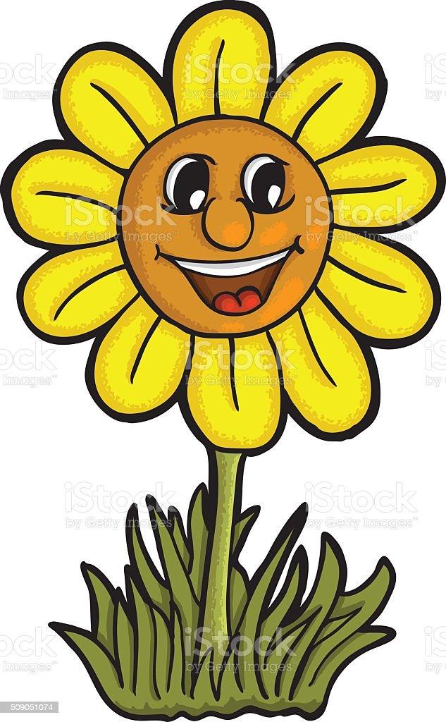 smiling sunflower clip art