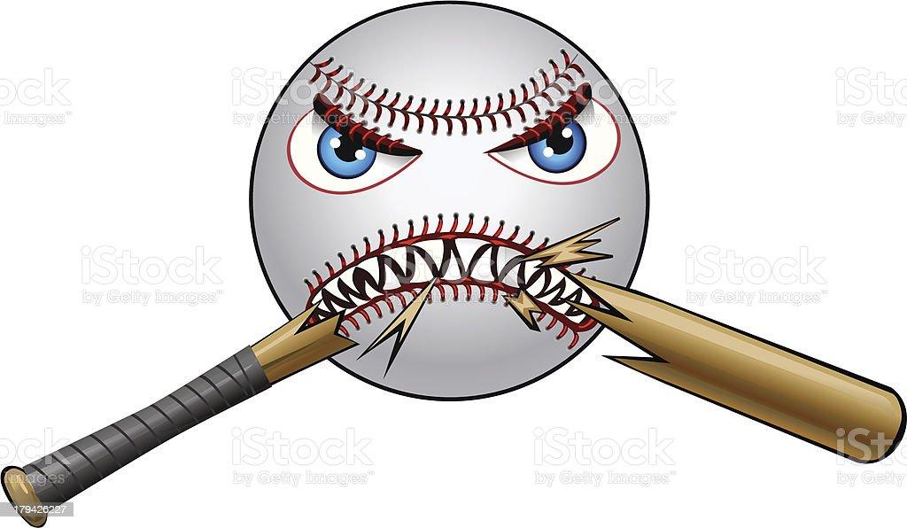 super angry baseball and bat stock