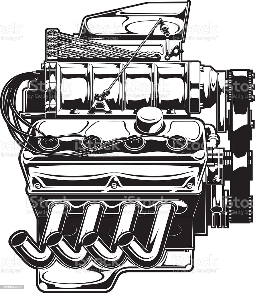 hight resolution of supercharged engine royalty free supercharged engine stock vector art amp more images of car