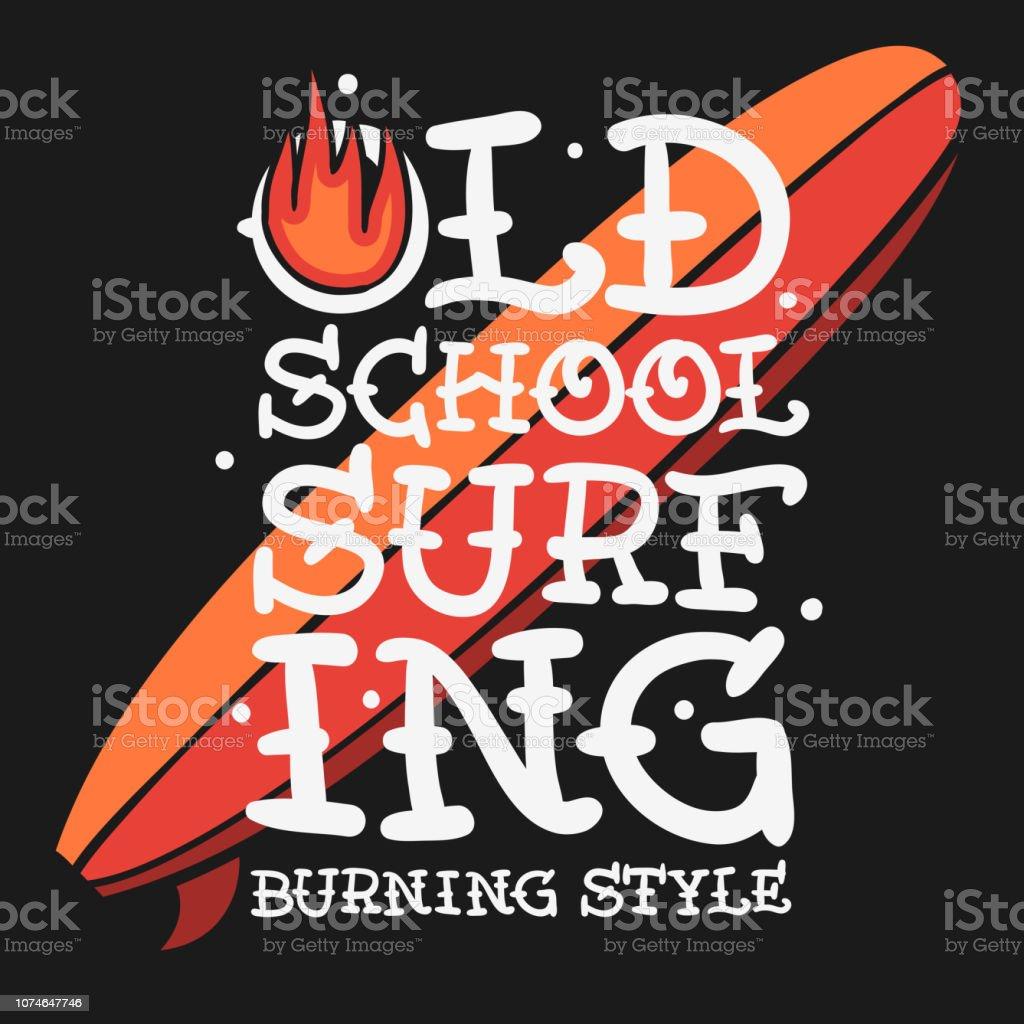 Ilustración De Surf Surf T Temáticas Camisa Diseño Dibujado A Mano