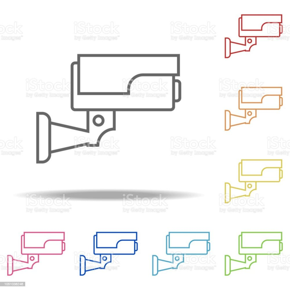 medium resolution of surveillance camera icon elements of camping in multi colored icons simple icon for websites