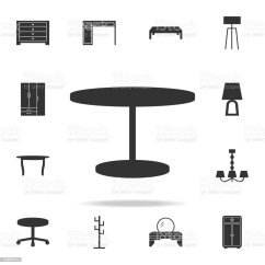 Chair Design Icons Black And White Dining Cushions Table Icon Detailed Set Of Furniture Premium Quality Graphic One