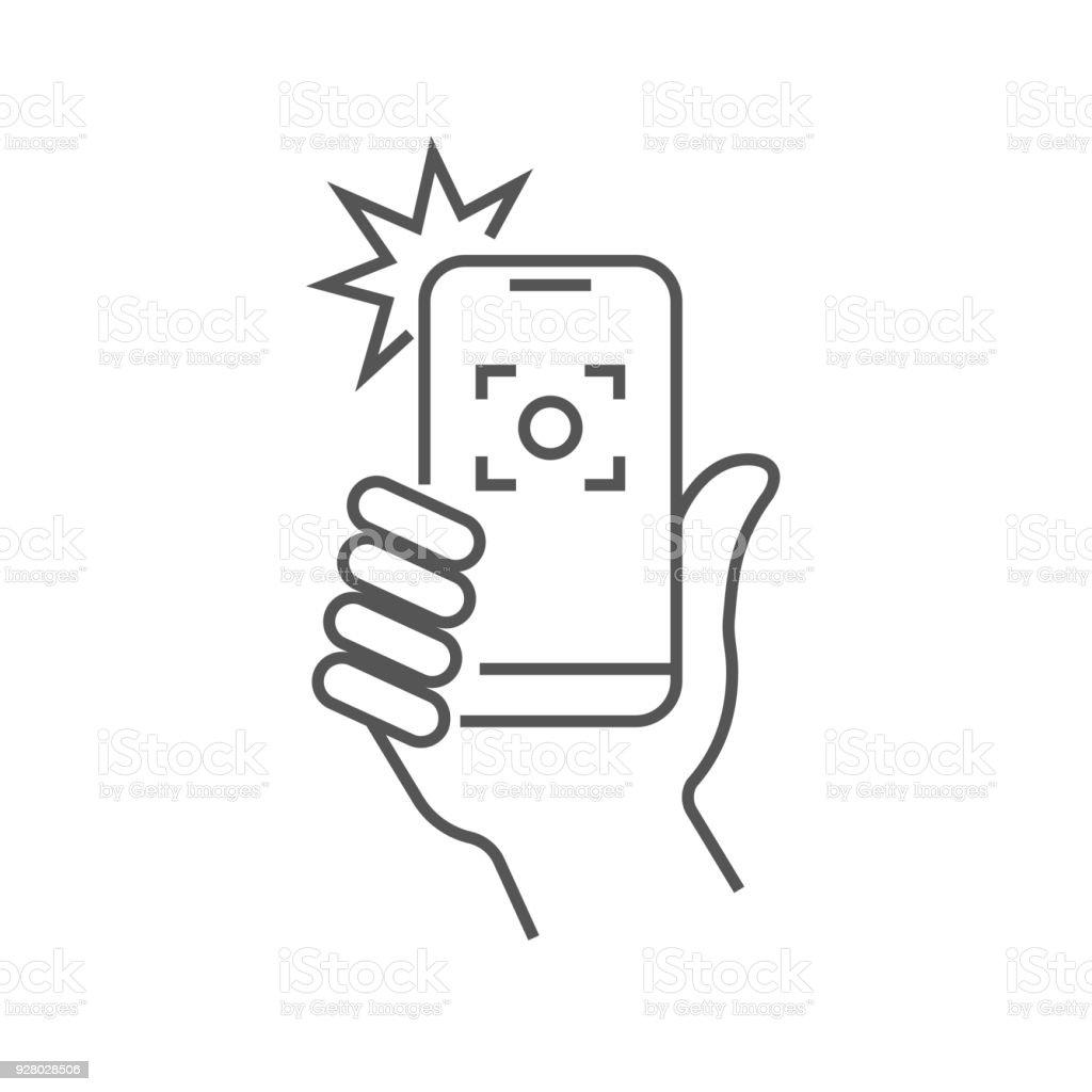 Taking Selfie On Smartphone Concept Creative Icon Selfie
