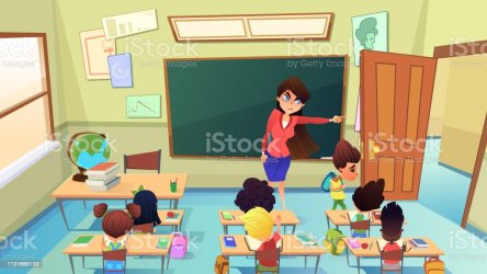 Teacher Excluding Pupil From Class Cartoon Vector Stock Illustration Download Image Now iStock