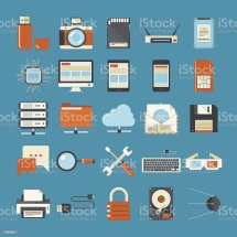Technology Icons Stock Vector Art & Of Cpu