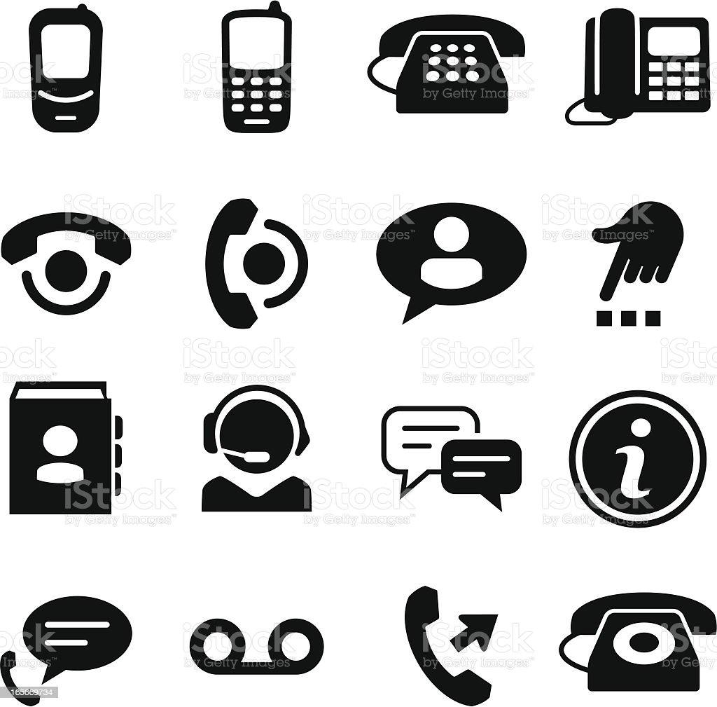 Telephone Icons Black Series Stock Vector Art & More
