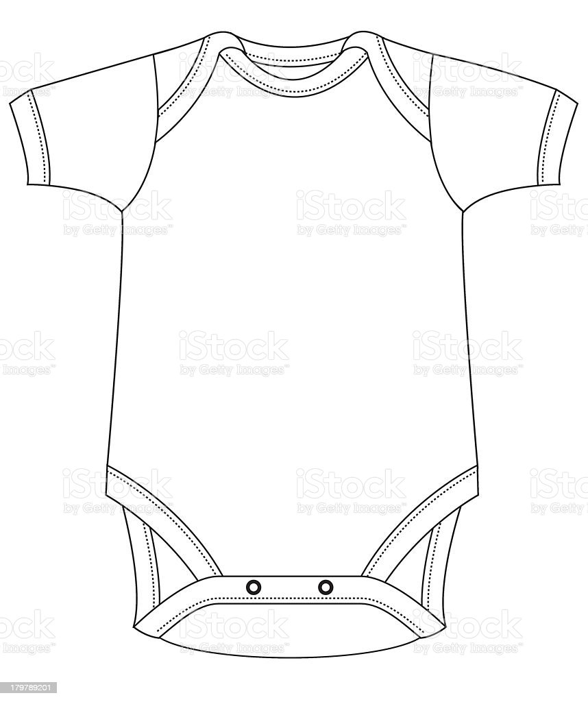 Template Baby Grow Stock Vector Art & More Images of Baby