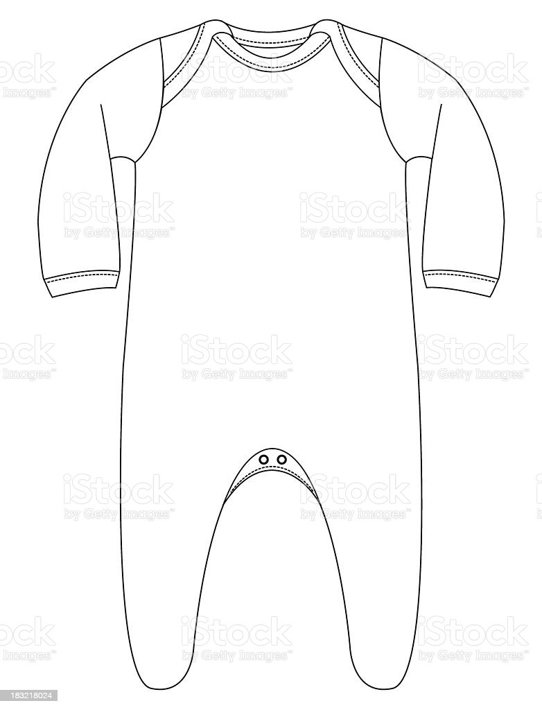 Template Baby Grow With Arms Legs Stock Illustration