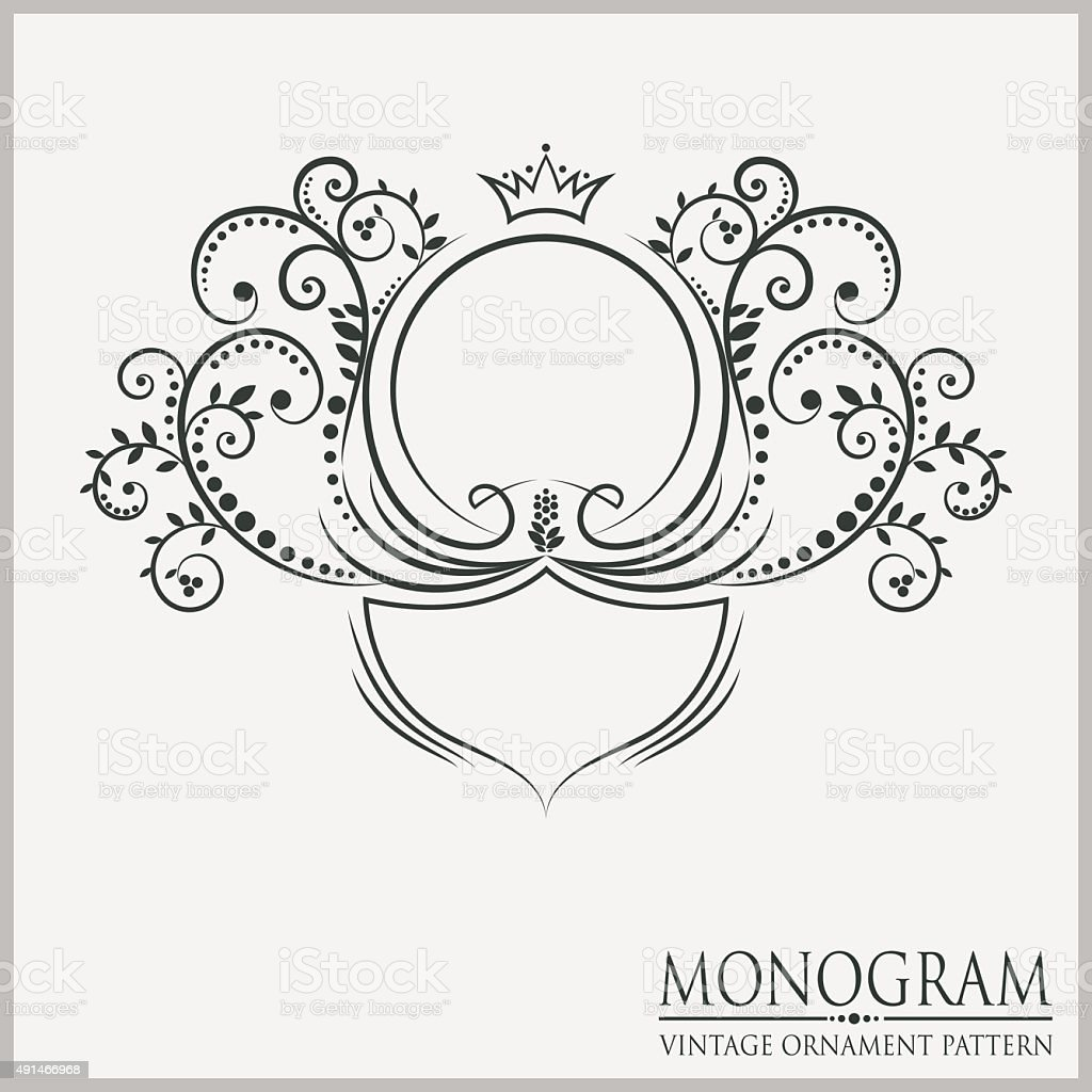 Template Wedding Monograms Stock Vector Art & More Images